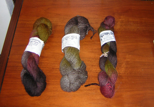 The yarns I bought.